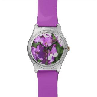 Purple Wildflowers/Purple Band Watches