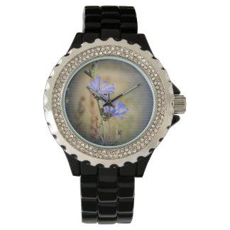 Purple Wildflowers - Rhinestone Watch