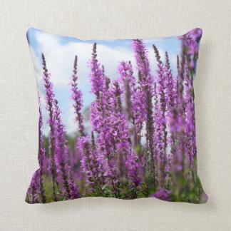 "Purple Wildflowers Throw Pillow 20"" x 20"""
