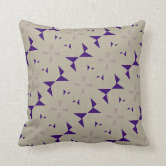 Purple Windmill Design Throw Pillows