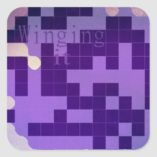 Purple winging it sticker