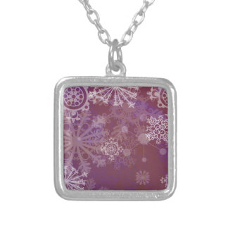 Purple Winter Silver Plated Necklace
