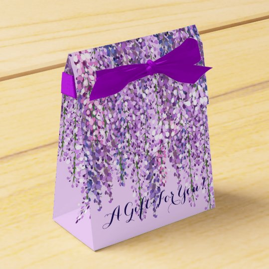 Purple Wisteria Favour Box | A Gift For You! Favor Boxes