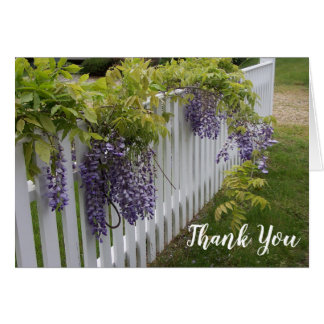 Purple Wisteria Flowers Thank You Note Card