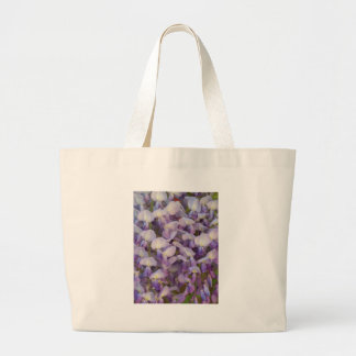 Purple Wisteria Large Tote Bag