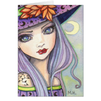Purple Witch Fantasy Art Card