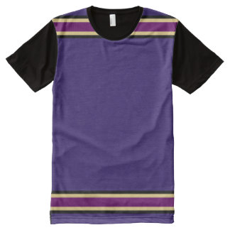 Purple with Black Gold and Purple Trim