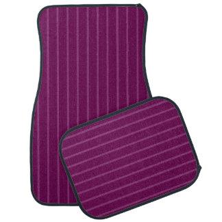 Purple with Thin Light Stripes Car Mat Full Set