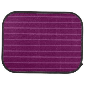 Purple with Thin Light Stripes Rear Car Mat