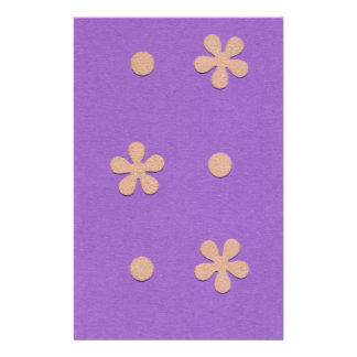 Purple Flowers Stationery Templates Purple Flowers Custom