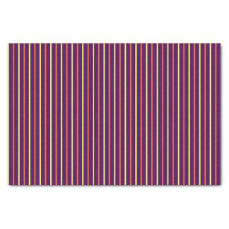 Purple with Yellow & Orange Stripes Tissue Paper