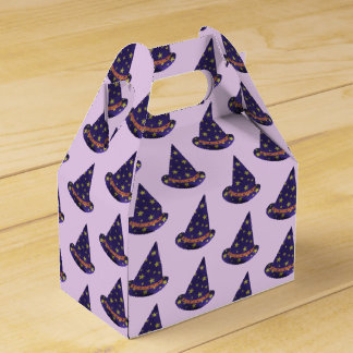 Purple Wizard Hats Halloween Treat Boxes