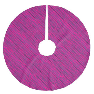 Purple Wooden Grunge Background Brushed Polyester Tree Skirt