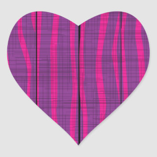Purple Wooden Grunge Background Heart Sticker