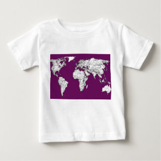 Purple world map tees