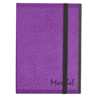 Purple Worn-Out Natural Fox Leather Look 2 Cover For iPad Air