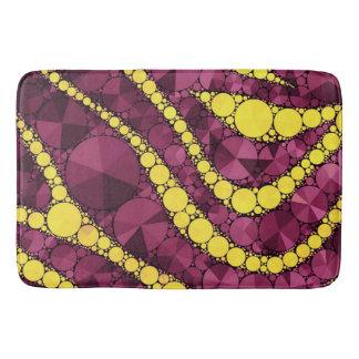 Purple Yellow Bling Zebra Bath Mat