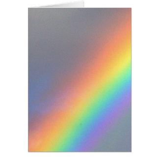 purple yellow blue red rainbow card