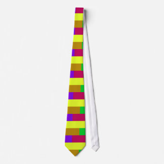 Purple, Yellow, Crimson Colorblock Tie