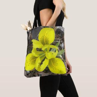 Purple & Yellow Irises Tote Bag
