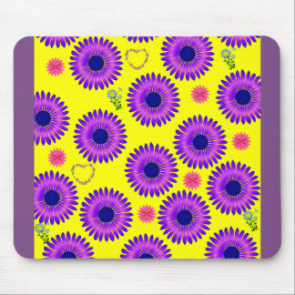 purple yellow mouse pad