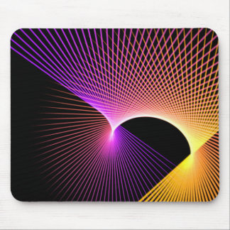 Purple & Yellow Night Lights Mouse Pad