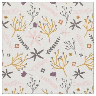 Purple Yellow Pink Flowered Fabric