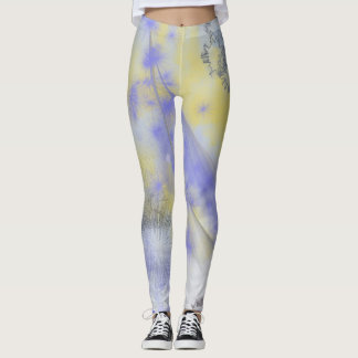 Purple & Yellow Spray Paint Leggings