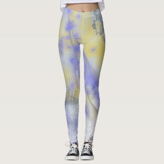 Purple & Yellow Spray Paint Leggings