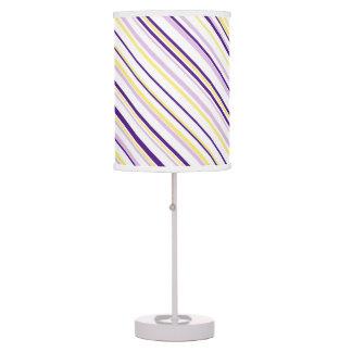Purple & Yellow Stripe Table Lamp