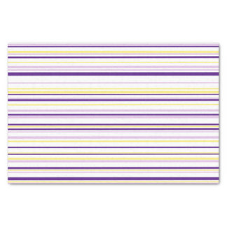 Purple & Yellow Stripe Tissue Paper