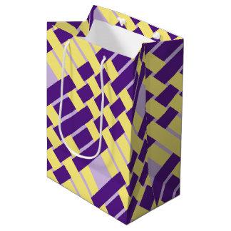 Purple & Yellow Weave Gift Bag