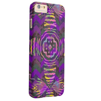 Purple Yellow Zebra Abstract Pattern Barely There iPhone 6 Plus Case