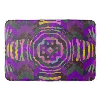 Purple Yellow Zebra Abstract Pattern Bath Mat
