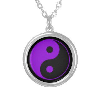 Purple Yin Yang Necklace