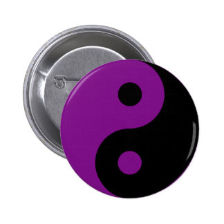 Purple Yin Yang Symbol Button