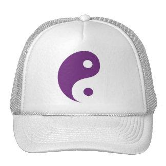 Purple Yin Yang Taoist Symbol Trucker Hat
