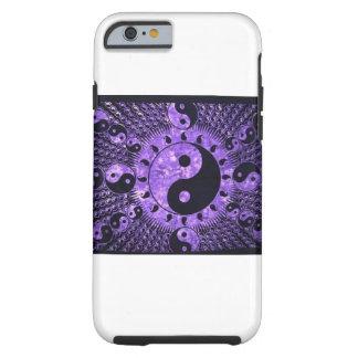 Purple Ying Yang Tough iPhone 6 Case