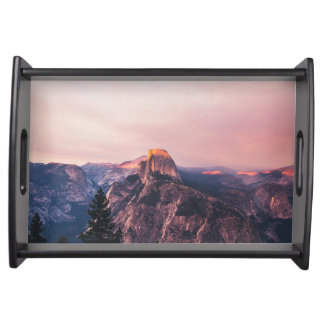 Purple Yosemite Valley in California United States Serving Tray