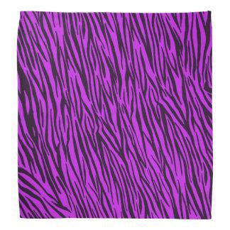 Purple Zebra Animal Print Bandana