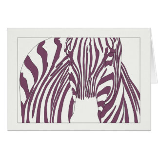 Purple Zebra Card