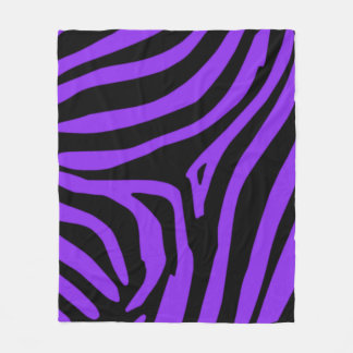Purple Zebra Fleece Blanket