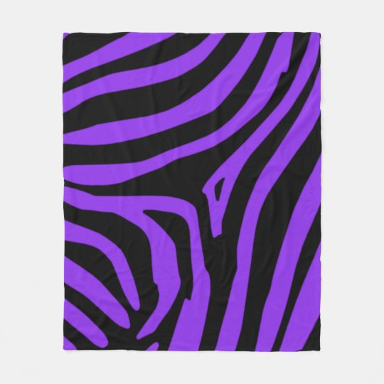 Purple Zebra Fleece Blanket