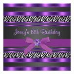 Purple Zebra Girls 13th Birthday Party