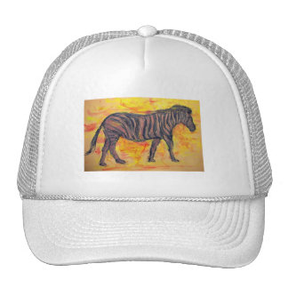 purple zebra mesh hat