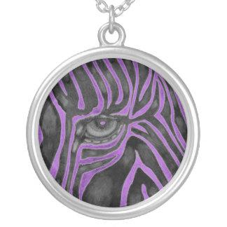Purple Zebra Necklace