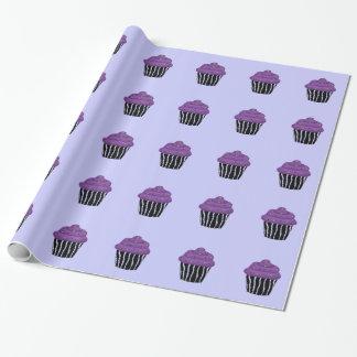 Purple Zebra Pattern Cupcake Wrapping Paper