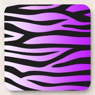 Purple Zebra Pattern Gradient Beverage Coaster