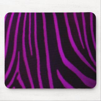 Purple Zebra Print Mouse Pad