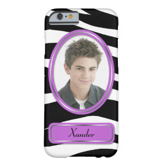 Purple Zebra Print Photo iPhone 6 Case Barely There iPhone 6 Case